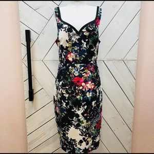 Anthropologie Leifnotes Floral Dress size 8
